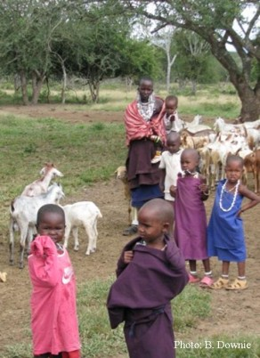 children and goats